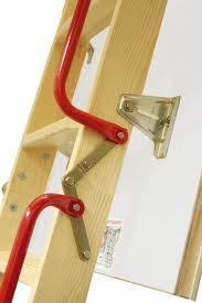 fakro wooden folding loft ladder lwl lux 3 section 305cm. Black Bedroom Furniture Sets. Home Design Ideas