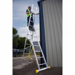 Werner Abru 725 Series Promaster Box Section Triple 3 Section 1.8m 6 Rung Reform Combination Ladder 72518