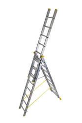 Werner Abru 725 Series Promaster Box Section Triple 3 Section 4.1m 14 Rung Reform Combination Ladder 7254118