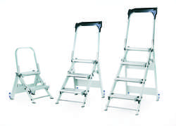 Abru Werner 223 Series Aluminium Safety Sturdy Aluminium folding 4 Steps Tread 0.88m 22304