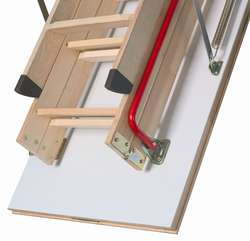 Fakro Wooden Folding Loft Ladder LWK Komfort 3 Section 280cm 2