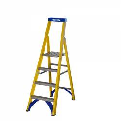 Werner Abru 717 Series Fibreglass Platform Stepladder Trade 2 Tread 71702 - £95.58
