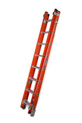 Werner Fibreglass Utility Double Extension Ladder Alflo 774 Series 8 tread 2.5m 77425